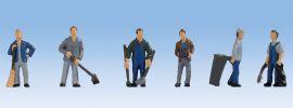 NOCH 15116 Hausmeister | 6 Miniaturfiguren | Spur H0 online kaufen