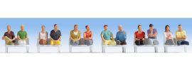 NOCH 15250 Sitzende Passagiere ohne Beine | 12 Miniaturfiguren | Spur H0 online kaufen