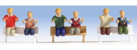 NOCH 15283 Lokführer E-Lok sitzend | 6 Miniaturfiguren | Spur H0 online kaufen