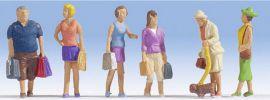 NOCH 15518 Beim Einkaufen | 6 Miniaturfiguren | Spur H0 online kaufen