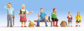 NOCH 15872 Wanderer | 6 Miniaturfiguren Spur H0 online kaufen