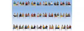 NOCH 16072 Mega-Spar-Set Sitzende Passagiere 60 Figuren ohne Beine Fertigmodell Spur H0 online kaufen