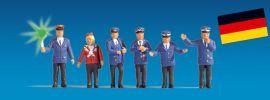 NOCH 17540 Bahnpersonal beleuchtet, 5 Figuren + 1 Figur mit LED Spur H0 online kaufen