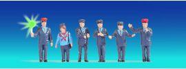 NOCH 17542 Bahnbeamte Österreich beleuchtet | 6 Miniaturfiguren | Spur H0 online kaufen