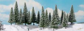 NOCH 24683 Schneetannen | Höhe: 4-10cm | 16 Stück | Spur H0 TT N Z online kaufen