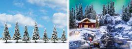 NOCH 25087 Schneetannen 7 Stück 8cm bis 12cm Fertigmodelle Spur H0 online kaufen