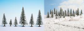 NOCH 26929 Schneetannen | Höhe 5 cm bis 9 cm | 5 Stück | Anlagengestaltung Spur H0 online kaufen
