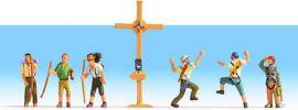 NOCH 36874 Bergwanderer mit Gipfelkreuz | Miniaturfiguren Spur N online kaufen