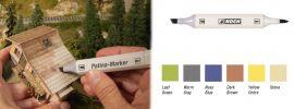 NOCH 61158 Patina-Marker für Modelle Inhalt 6 unterschiedliche Marker für alle Spurweiten geeignet online kaufen