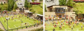 NOCH 66830 Fußballplatz mit Vereinsheim, micro-sound Tribüne und Flutlicht Spur H0 online kaufen