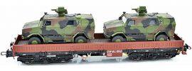 NPE 22133 Schwerlastwagen Samms-u 454 mit ATF Dingo DB AG | DC | Spur H0 online kaufen