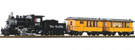 PIKO 37111 US Startset: Dampflok + Personenzug D/RGW | SOUND | Spur G online kaufen