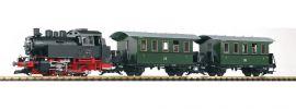 PIKO 37125 Start-Set Personenzug mit Dampflok BR 80 DB Spur G online kaufen