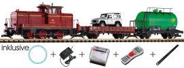 PIKO 37140 Digital Start-Set V60 Sound mit Güterwagen DB Spur G online kaufen