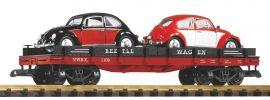 PIKO 38765 Autotransportwagen + 2 Diecast Autos (Käfer) | Spur G online kaufen