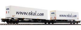 PIKO 54770 Taschenwagen T3000e ekol Kombiverkehr   DC   Spur H0 online kaufen