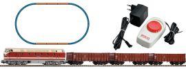PIKO 57136 Start-Set Diesellok BR119 + 3 Hochbordwagen DR | DC | Spur H0 online kaufen