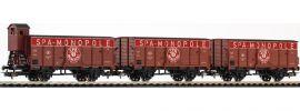 PIKO 58339 Ged. Güterwagen-Set 3-tlg. SPA Monopole SNCB | DC | Spur H0 online kaufen