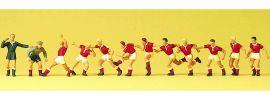 Preiser 10075 Fussballmannschaft + Schiedsrichter | Figuren Spur H0 online kaufen