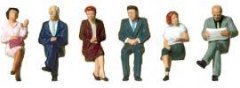 Preiser 10434 sitzende Reisende | 6 Stück | Figuren Spur H0 online kaufen