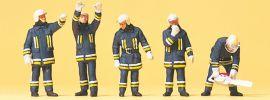 Preiser 10486 Feuerwehrmänner in moderner Einkleidung Figuren Spur H0 online kaufen