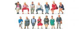 Preiser 10524 Sitzende Reisende | 14 Figuren | Miniaturfiguren Spur H0 online kaufen