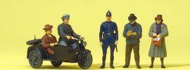 Preiser 10565 Zündapp mit Beiwagen und Passanten | Figuren Spur H0 online kaufen