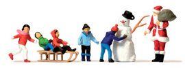 Preiser 10626 Weihnachtsmann Kinder Schneemann Figuren Fertigmodell 1:87 online kaufen