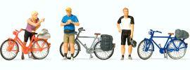 Preiser 10644 Radfahrer in sportlicher Kleidung (2) Figuren Spur H0 online kaufen