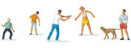 Preiser 10696 Outdoor-Vergnügen | 6 Miniaturfiguren | Spur H0 online kaufen