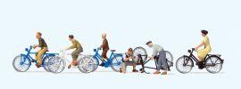 Preiser 10716 Jugendliche mit dem Fahrrad   Miniaturfiguren 1:87 online kaufen
