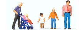 Preiser 10721 Familienausflug | 5 Stück | Figuren Spur H0 online kaufen