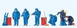 Preiser 10729 Feuerwehrmänner, Blauer Vollschutzanzug und Zubehör | Figuren Spur H0 1:87 online kaufen
