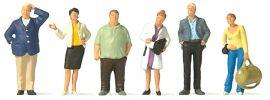 Preiser 10734 Wartende Bahnreisende | 6 Miniaturfiguren | Spur H0 online kaufen