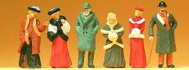Preiser 12197 Passanten in winterlicher Kleidung um 1900 6 Figuren Fertigmodell 1:87 online kaufen