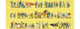 Preiser 13001 Super-Set Auf dem Bauernhof | 60 Stück | Figuren 1:87 online kaufen