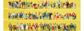 Preiser 13002 Figuren Großpack Auf Straßen und Plätzen | 100 Stück | Spur H0 online kaufen