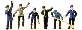Preiser 14013 BW und Rangierpersonal   6 Miniaturfiguren   Spur H0 online kaufen