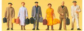 Preiser 14019 Reisende | 6 Stück | Figuren Spur H0 online kaufen