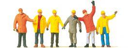Preiser 14034 Arbeiter in Schutzkleidung   Figuren Spur H0 online kaufen