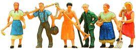 Preiser 14040 Landbevölkerung | 6 Miniaturfiguren | Spur H0 online kaufen