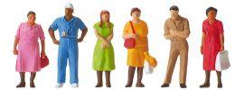 Preiser 14047 stehende Passanten | 6 Stück | Figuren Spur H0 online kaufen
