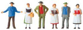 Preiser 14048  Ländliche Marktbesucher | 6 Stück | Figuren Spur H0 online kaufen