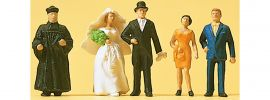 Preiser 14001 Brautpaar und Geistlicher | 5 Miniaturfiguren | Spur H0 online kaufen