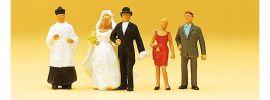 Preiser 14058 Brautpaar katholischer mit Pfarrer Figuren  Spur H0 online kaufen