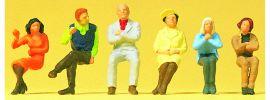 Preiser 14031 sitzende Persnen | 6 Stück | Figuren Spur H0 online kaufen
