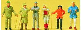 Preiser 14077 Wanderer | 6 Stück | Figuren Spur H0 online kaufen