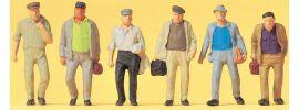 Preiser 14086 Pendler auf dem Weg zur Bahn | 6 Stück | Figuren Spur H0 online kaufen