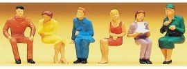 Preiser 14095 sitzende Personen | 6 Stück | Figuren Spur H0 online kaufen