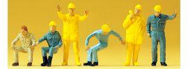 Preiser 14128 Autokran- Personal | 6 Stück | Figuren Spur H0 online kaufen